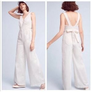 Anthropologie | Chino Wrap Wide Leg Jumpsuit